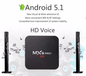 2016 More Popular Mxq PRO Quad Core Android 5.1 TV Box Amlogic S905 1GB/8GB 4k Media Player Smart TV Box From China Quad Core Mxq PRO pictures & photos