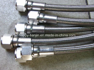 Corrugated or Smooth PTFE Hose with Ss Wire Braid Teflon Hose pictures & photos