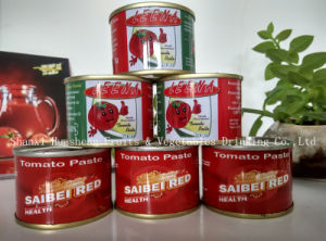 70g*50 28%-30% Tomato Paste 80% pictures & photos