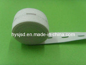 Wholesale White Elastic Button Cord pictures & photos