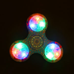 Hand Finger Spinner Fidget LED Light Plastic EDC Hand Spinner LED for Autism Relief Focus Anxiety Tri-Spinner pictures & photos