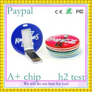 Free Sample Paypal Payment Custom Logo Round Card USB (GC-C018) pictures & photos