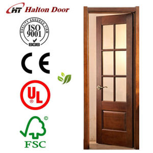 French Door/Solid Wood Timber Door/Timber Wooden Door/Mahogany Timber Door pictures & photos