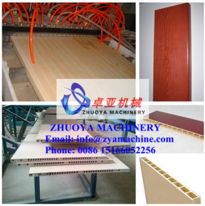 WPC PVC Door Panel/Plate Wood Plastic Profile Production Line pictures & photos