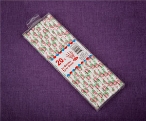 Christmas Corrugated Paper Drinking Straw Drinking Party Products pictures & photos