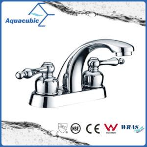 Double Handle Bathroom Brass Basin Faucet (AF3007-6) pictures & photos