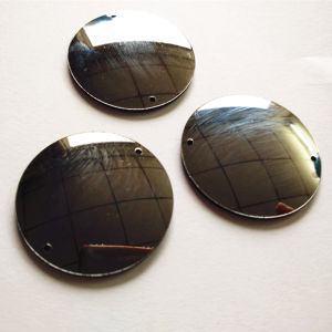 Dance Costume Round Shape Acrylic Sew on Mirror Stone Sewing Rhinestones (SW-black diamond mirrored) pictures & photos