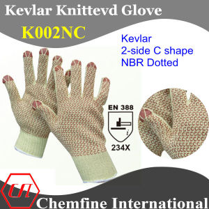 Kevlar Knitted Glove with 2-Side C Shape NBR Dots/ En388: 234X pictures & photos