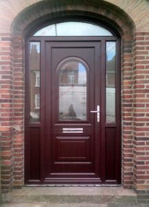High! Class PVC Arched Rosewood Entrance Door (BHP-CDA03) pictures & photos