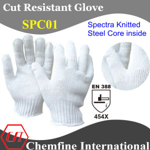 Spectra Knitted Glove with Steel Core Inside/ En388: 454X pictures & photos