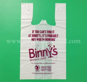 Custom 100% Fully Biodegradable Compostable Shopping Bag, Corn Starch Bag pictures & photos