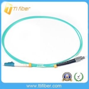 LC-FC Om4 50/125 Multimode Fiber Optic Patch Cord pictures & photos