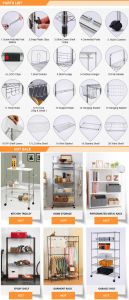 Powder Coated DIY 40kg Metal Bathroom Corner Wire Rack pictures & photos