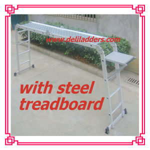 Aluminum Multi-Purpose Ladder with Steel Treadboard pictures & photos