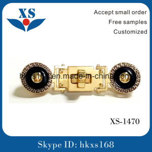 Special Shape Gold Plated Lady′s Bag Lock