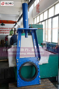 Ductile Iron Slurry Knife Gate Valve with Cylinder pictures & photos