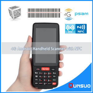 Android 5.1 Wireless 4G Handheld Mobile Scanner Courier PDA with NFC Reader pictures & photos