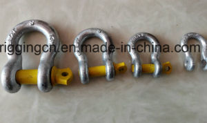Bow Shackle for Industrial with Yellow Screw Pin in Grade S pictures & photos