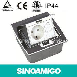 Sinoamigo Black Resin Plate Floor Sockets with Multi-Switch pictures & photos