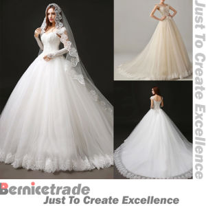 New Applique Wedding Evening Bridal Ballgown Dresses