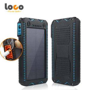 12000mAh Dual USB Solar Charger Portable Solar Power Bank with Big LED Light Cigarette Lighter pictures & photos