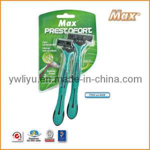 Popular Triple Blade Stainless Steel Blade Disposable Shaving Razor (LA-8406) pictures & photos