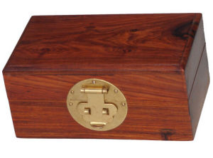 Classic Rosewood Made Treasure Box with Lock pictures & photos