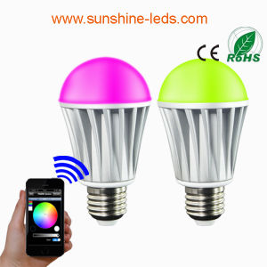Bluetooth/WiFi RGBW 7W E27 LED Bulb pictures & photos
