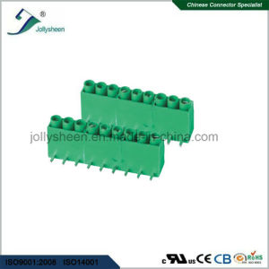 PCB Screw Terminal Blocks Pitch 5.0mm 9p Right Angle DIP Type pictures & photos