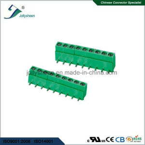 PCB Screw Terminal Blocks Pitch 5.0mm 90deg DIP with Green Housing pictures & photos