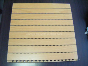 Acoustic Wooden Driling Sound Absorbing Wall Board Panels pictures & photos