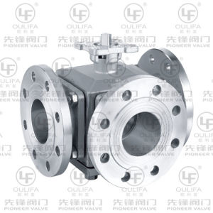 Flanged 3-Way Ball Valve ISO Direct Mounting pictures & photos