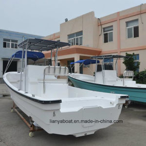 Liya 25ft Fishing Boat Fiberglass Panga Boat with Engine Made in China pictures & photos