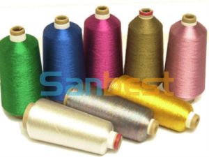 Colorful Metallic Embroidery Thread with Polyester or Rayon Core Yarn pictures & photos