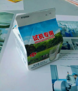 Gable Top Carton Packaging for Pure Milk pictures & photos