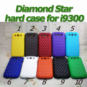 Diamond Star Luxury Hard PC Case with Silver Bumper Cover for Galaxy S3 Siii I9300