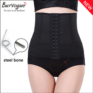 Breathable Steel Boned Waist Training Body Shaper for Women