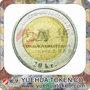 Top Quality 2 Color Brass Token Coins pictures & photos