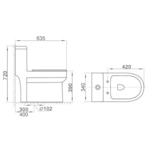 2133 Cupc Bathroom Dual Flush Siphonic One Piece Ceramic Toilet pictures & photos