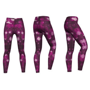 High Quality Gym Leggings for Women Print with Purple Color pictures & photos