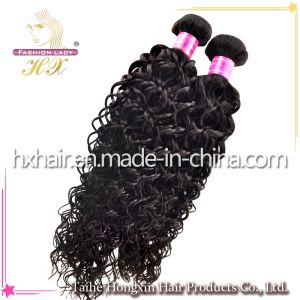 Natural Color Peruvian Virgin Kinky Curl Human Hair Kinky (HX-PR-10))