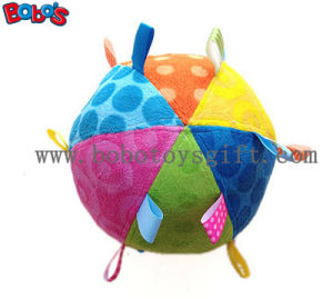 Safety Plush Baby Ball Toy Stuffed Infant Ball Toy with Colorful Ribbonbosw1056 pictures & photos