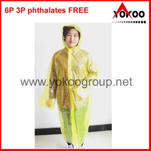 Yellow PE Disposable Raincoat (YB-51410)