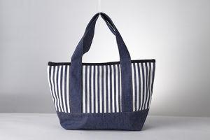 Ladies Fashion Design High Quality 100% Cotton Shopping Bag pictures & photos