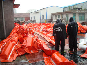 Solid Float PVC Oil Fence / Rubber Floating Seaweed Barrier pictures & photos