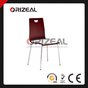 China Stackable Home Furniture Ply Dining Chair with Steel Frame pictures & photos