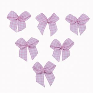 Pink Chex Ribbon Bow pictures & photos