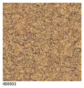Gold / Yellow Bulati 60X60 80X80 Double Charge Polish Porcelain Tile pictures & photos