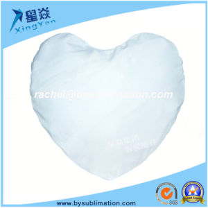 Heart Shape Blank Suede Pillow Cover pictures & photos