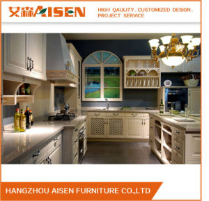White Classic Solid Wood Customized Kitchen Cabinet pictures & photos